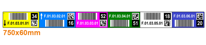 ONE2Id magazijn labels check digits 2D code