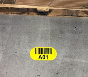 ONE2ID vloerlabels vloermarkering labels magazijnvloer