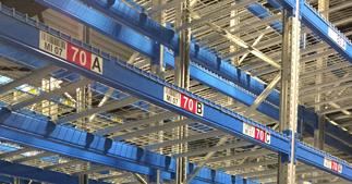 ONE2ID level colours warehouse rack labels