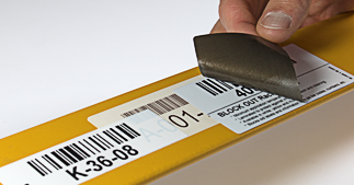 ONE2ID warehouse rack labels block out