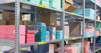 ONE2ID rack and shelf labels warehouse