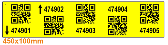 ONE2ID magazijnlabels stellinglabels 2D QR code