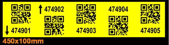 ONE2ID magazijnlabels stellinglabels 2D QR code