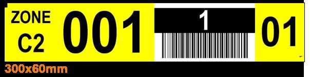 ONE2ID barcode labels magazijn hoogtekleuren stellingen