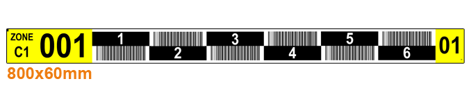 ONE2ID magazijnlabels barcode etiketten stelling