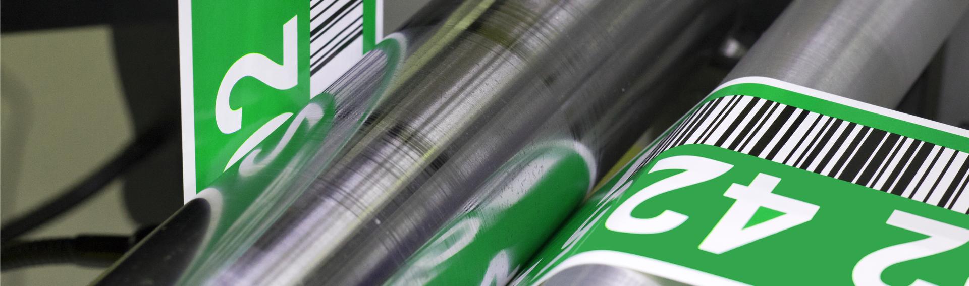 ONE2ID magazijnlabels industriële labels barcode etiketten