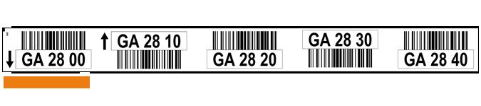 ONE2ID magazijnlabels locatie stickers met barcode
