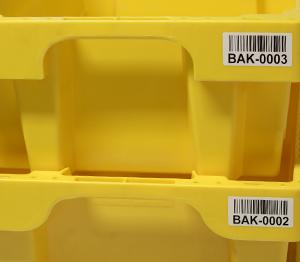 ONE2ID kratlabels etiketten magazijn bakken kratten