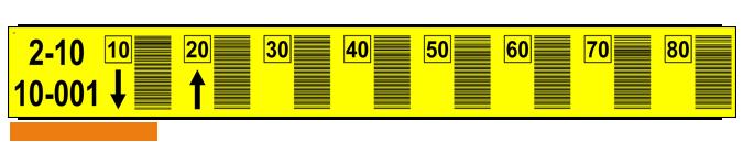 ONE2ID locatie stickers magazijn barcode labels scannen