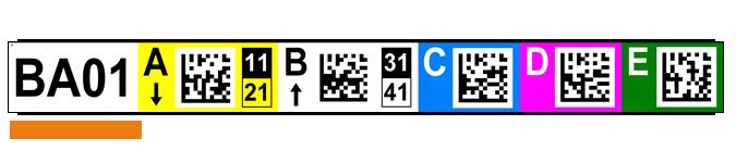 ONE2ID locatie stickers magazijn 2D code datamatrix check digits