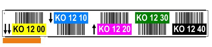 ONE2ID locatie stickers magazijn met barcode