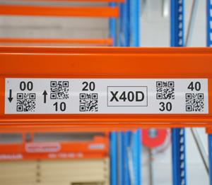 ONE2ID magazijnlabels stellingen QR code scannen