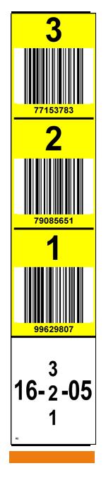 ONE2ID verticale magazijnlabels staander barcode scannen