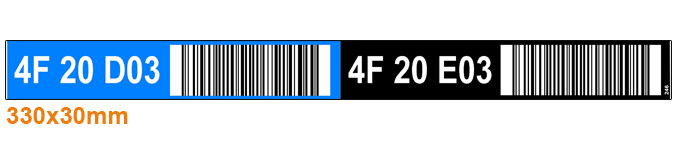 ONE2ID barcode labels picklabels locatie stickers