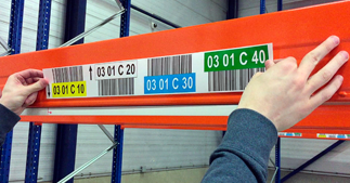 ONE2ID warehouse labels installation
