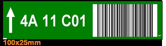 ONE2ID picklabels magazijn met barcode en kleur