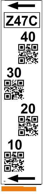 ONE2ID verticale magazijnlabels staander met QR code