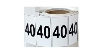 ONE2ID draagarmstelling etiketten polyester raised labels