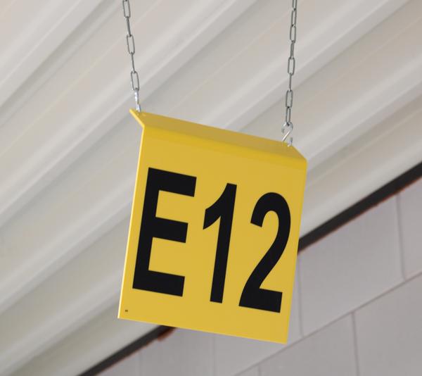 ONE2ID magazijnborden bordjes bulklocatie zone magazijn gangpad