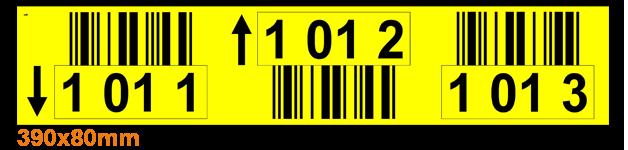 ONE2ID gele magazijnlabels barcode stellingen locatie stickers magazijn
