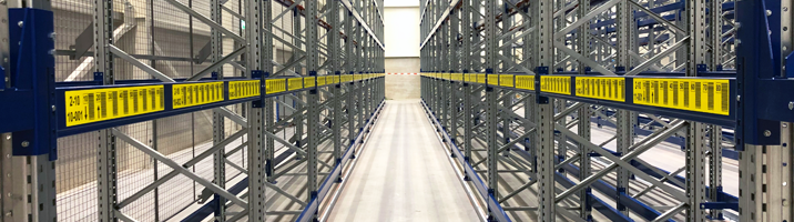 ONE2ID magazijnlabels gele stellinglabels met barcode