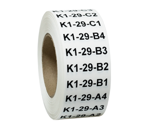 ONE2ID magazijnlabels modula lift kardex kasr pick labels