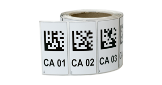 ONE2ID polyester raised labels eprep resopal magazijn