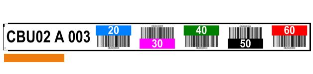 ONE2ID magazijnlabels kleurcodering barcode stellingen