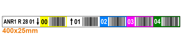ONE2ID colour-coded custom warehouse labels