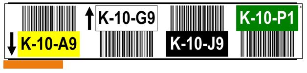 ONE2ID magazijnlabels werken met kleur barcode scannen