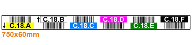 ONE2ID colour-coded warehouse labels with barcodes