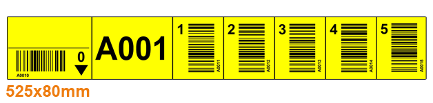 ONE2ID warehouse rack labels with barcodes