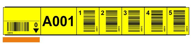 ONE2ID magazijnlabels schuine barcodes verticale barcodes scannen