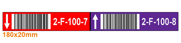 ONE2ID colour-coded warehouse barcode labels shelf labels