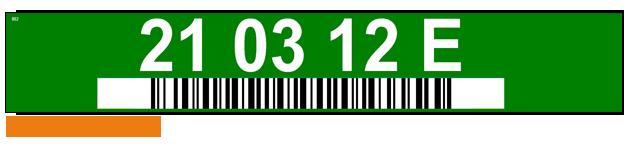 ONE2ID magazijnlabels met kleurcodering barcode labels