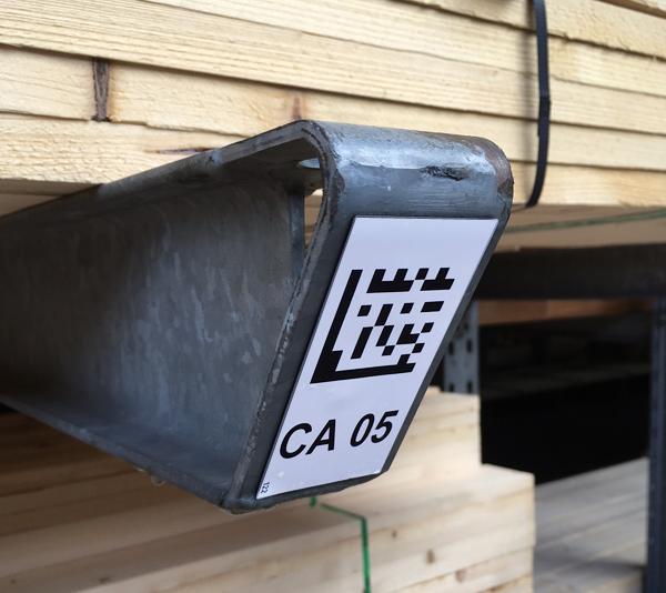 ONE2ID draagarmstelling etiketten magazijnlabels weerbestendige etiketten