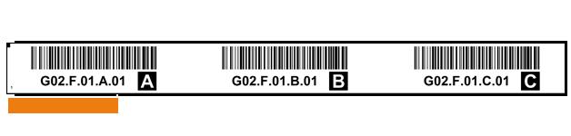 ONE2ID magazijnlabels stellingen met barcode