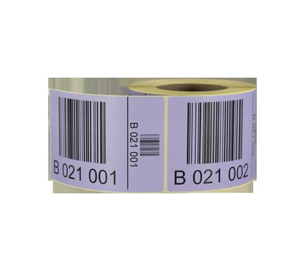 ONE2ID pallet etiketten met barcode en serienummer