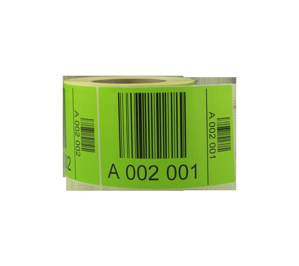 ONE2ID pallet labels oplopende serienummers magazijn