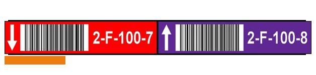 ONE2ID picklabels met kleurcodering magazijnlabels