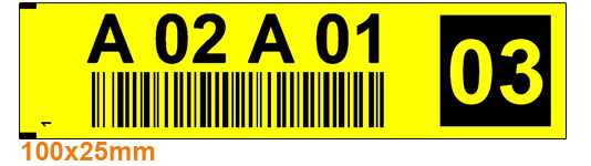 ONE2ID rack and shelf labels warehouse check digits