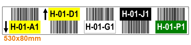 ONE2ID rack labels barcodes and colors