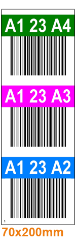 ONE2ID verticale warehouse labels pallet uprights