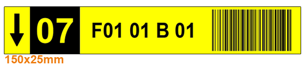 ONE2ID warehouse labels with check digits