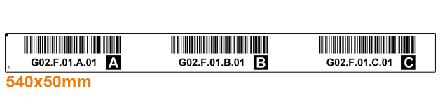 ONE2ID rack labels beams warehouse labels