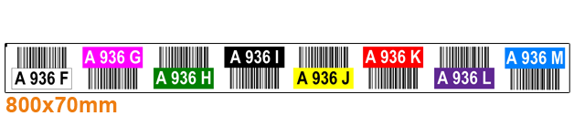 ONE2ID color-coded warehouse labels pallet racking with barcodes