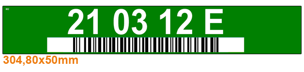 ONE2ID color-coded warehouse labels rack labels