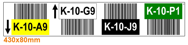 ONE2ID warehouse labels colour-coded rack labels