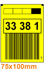 ONE2ID yellow warehouse labels rack uprights