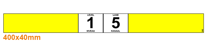 ONE2ID Barcode etiketten doorrolstelling flowrack